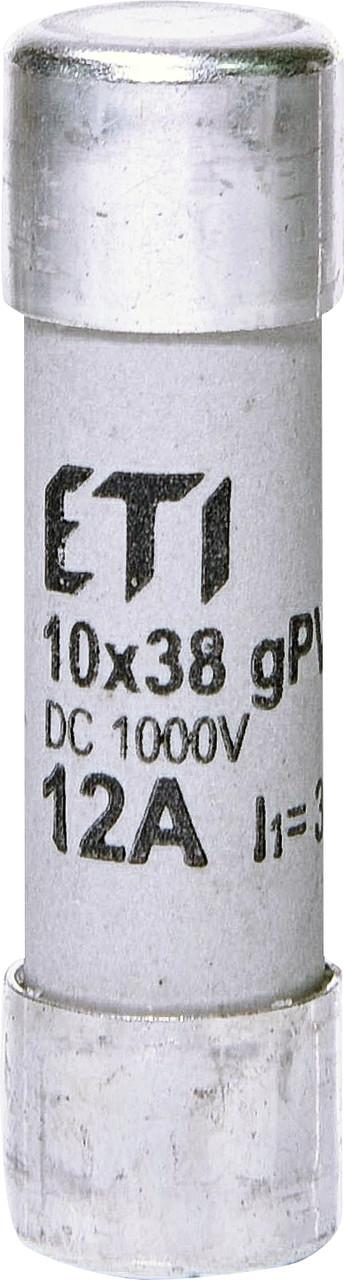 Предохранитель ETI CH 10x38 gPV 12A 1000V DC UL 30kA 2625077 (для фотоэлектрических систем PV)