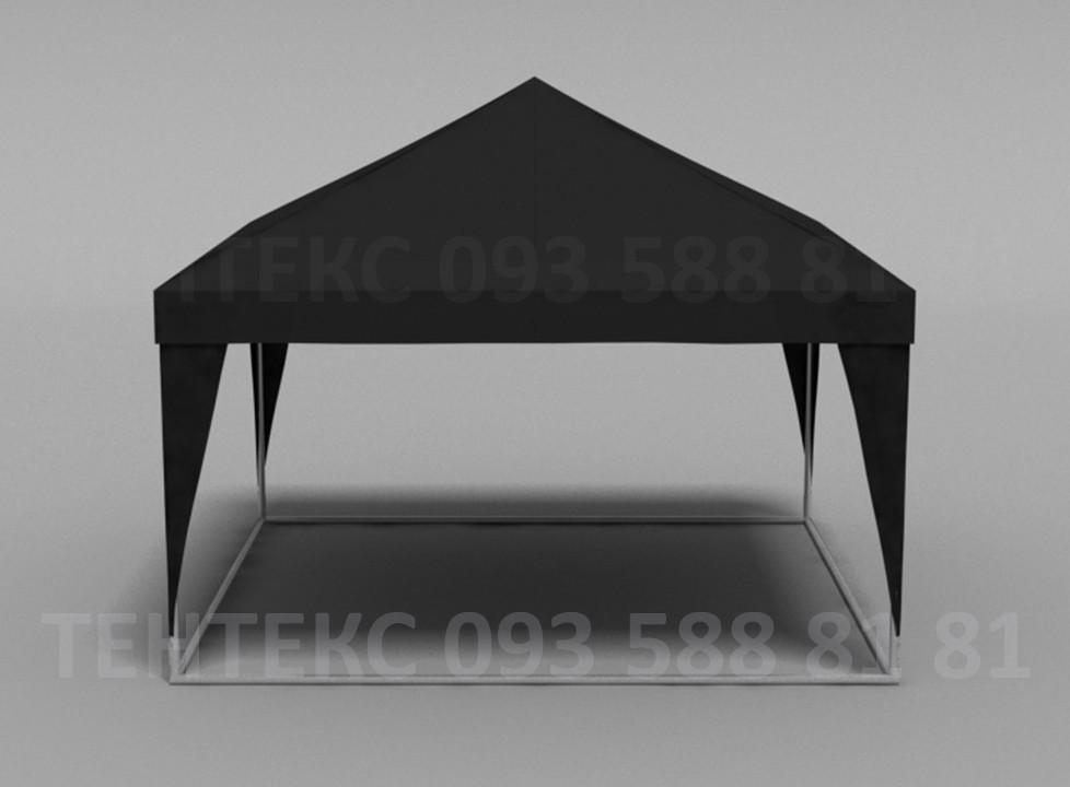 "Палатка  4х4""Пирамида на 20 человек - Чёрная"