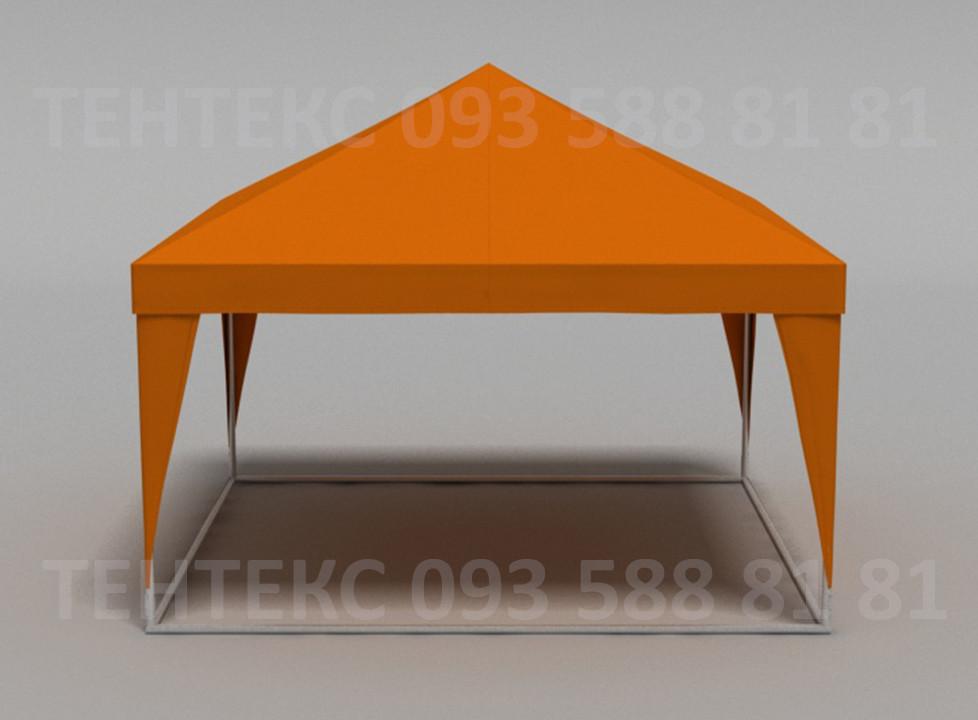 Палатка Пирамида на 20 человек - оранжевая 4х4