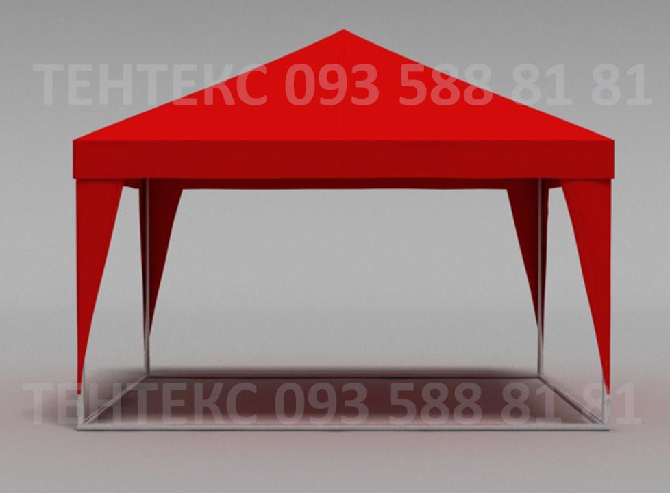 """Палатка уличная 4х4 """"Пирамида"""" - красная"""