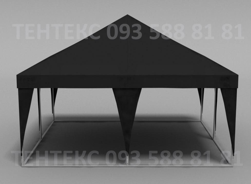 """Палатка уличная """"Пирамида 5х5""""  - Чёрная"""