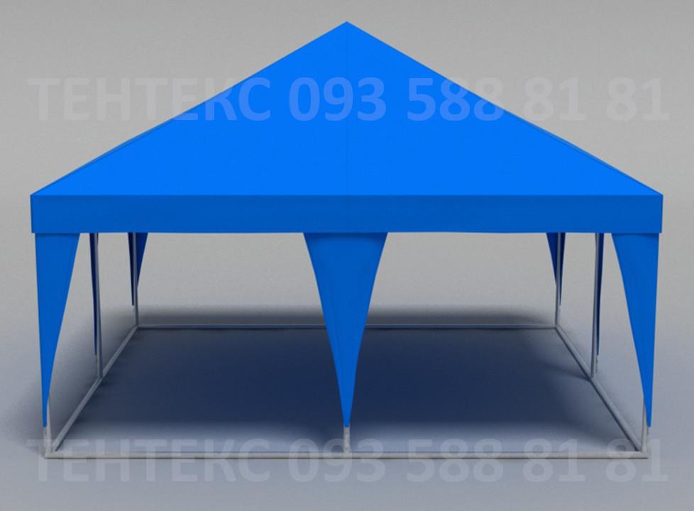 """Торговый уличный шатер  """"Пирамида 5х5""""  Синий"""