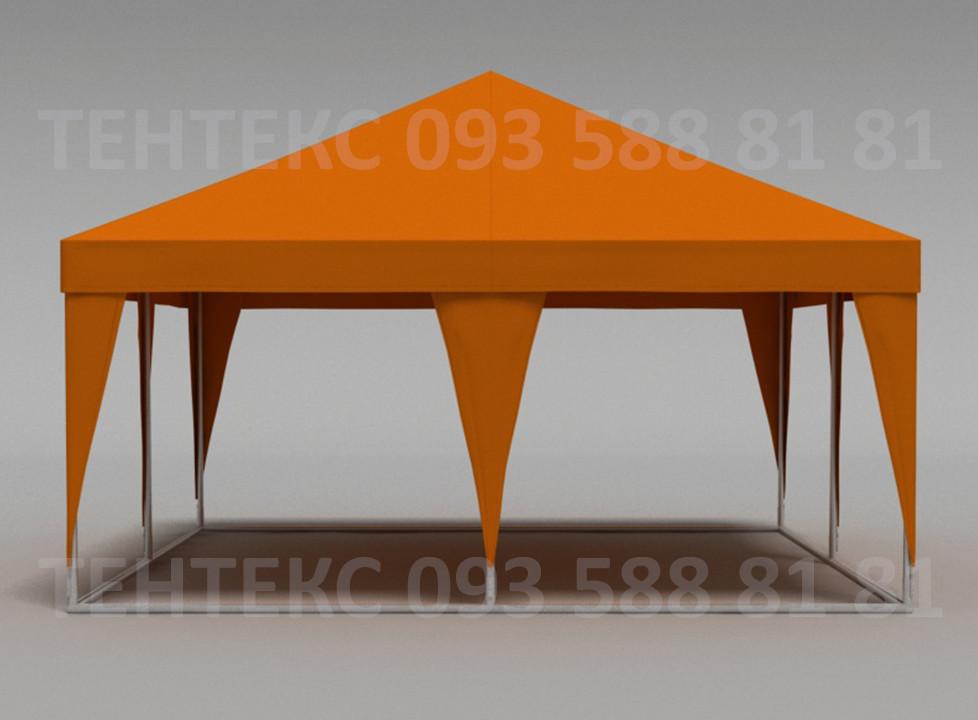 """Торговый шатер """"Пирамида 5х5"""" Оранжевый - Пивной"""
