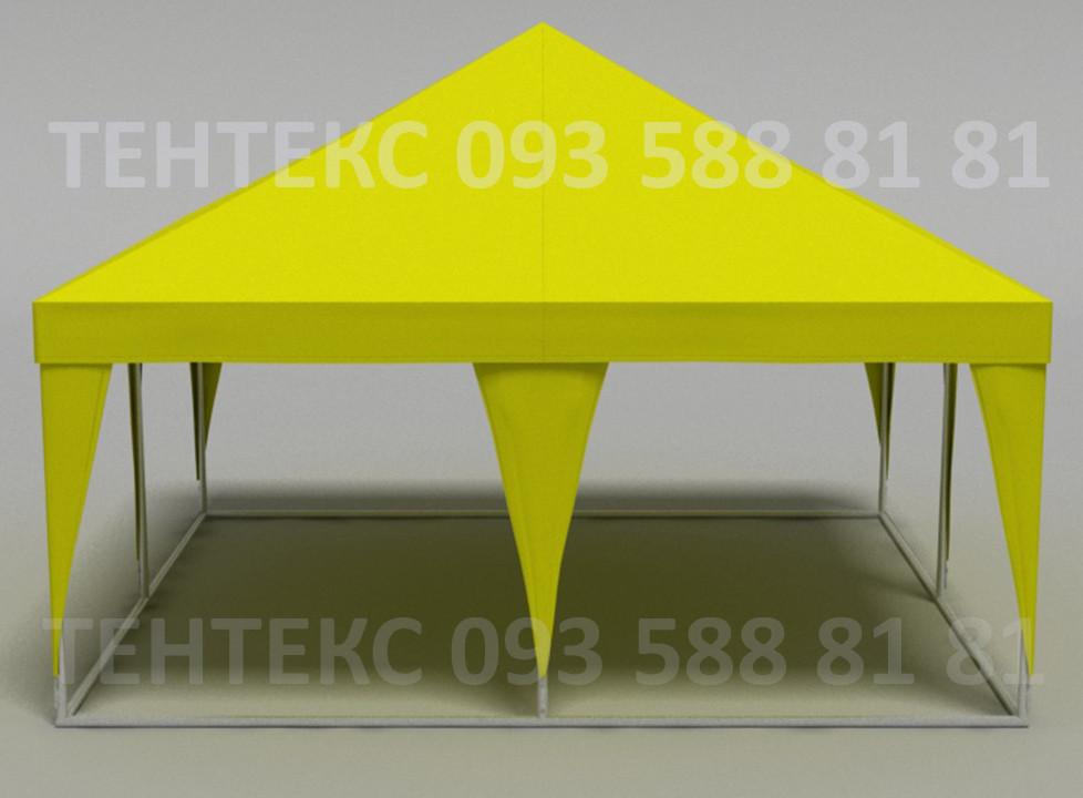 """Шатры пивные уличные """"Пирамида 5х5"""" Желтого цвета и других цветов"""