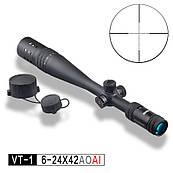 Приціл оптичний VT-1 PRO 6-24х42 AOAI Discovery (25.4 мм, з кутоміром)