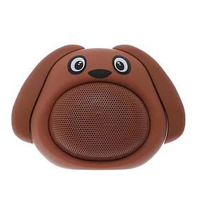 Колонка блютуз Bluetooth музыкальная игрушка собачка Коричневая