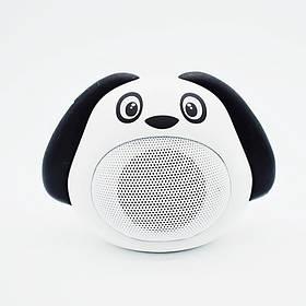 Колонка блютуз Bluetooth музыкальная игрушка собачка Белая