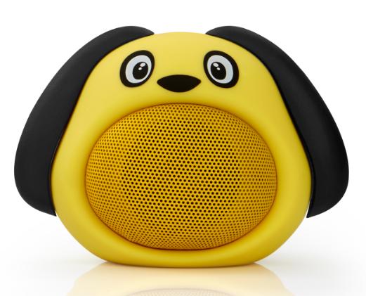 Колонка блютуз Bluetooth музыкальная игрушка собачка Желтая