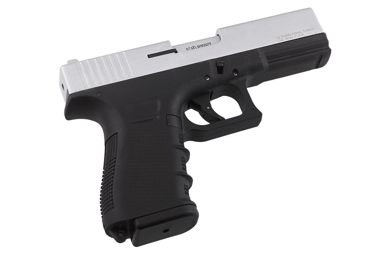 Пистолет стартовый Retay G17 Chrome (копия Glock 17), цена 2082 грн., купить в Харькове — Prom.ua (ID#1115197456)
