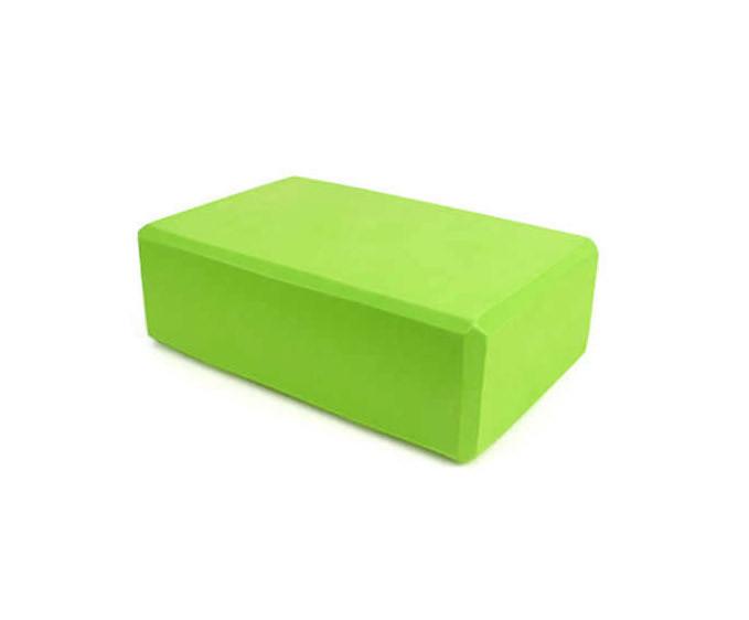 Блок для йоги (green)  / товары для йоги / инвентарь для йоги