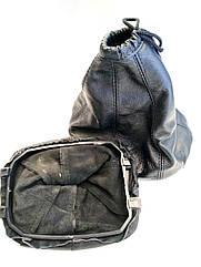 Чехол ручки кпп с рамкой кожа Daewoo Lanos Деу Ланос черный