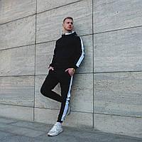 Мужской спортивный костюм с боковыми полосками на весну/осень, фото 1