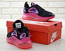 Жіночі Кросівки Nike Air Max 720 Black Pink, фото 2