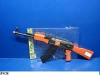 Детская игрушка автомат-трещетка, в пакете, AK47-112