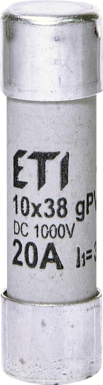 Предохранитель ETI CH 10x38 gPV 20A 1000V DC UL 30kA 2625085 (для фотоэлектрических систем PV)