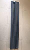 Радіатор дизайнерський вертикальний Lucca 10/1800 Антрацит матовий 1800*456, фото 1
