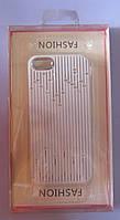 Чехол-бампер для телефона IPhone 5,5S,5G (белый со стразами)