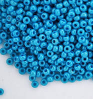 Бисер Preciosa Чехия №16165 1г, голубой непрозрачный
