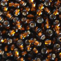 Бисер Preciosa Чехия №17140 1г, золото, коричневый темный,, блестящий