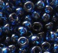 Бисер Preciosa Чехия №60100 1г, темно-синий, прозрачный