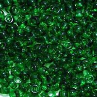 Бисер Preciosa Чехия №50060 1г, зеленый насыщенный, прозрачный