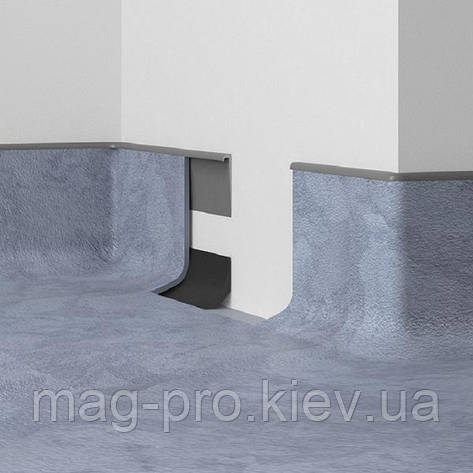 Устройство галтели (переход пол-стена) из коммерческого линолеума, фото 2