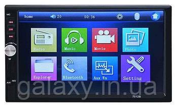 Автомагнитола 7018B Long пульт на руль сабвуфер Bluetooth сенсорный экран 7 дюймов