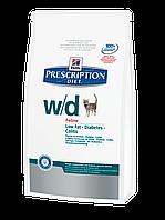 Корм для котов Hills PD Feline W/D 1,5 кг Предотвращает ожирение, колиты, запоры, сахарный диабет