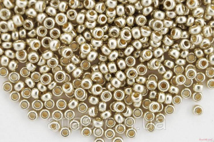Бисер Preciosa Чехия №18503 1г, серебро металлик