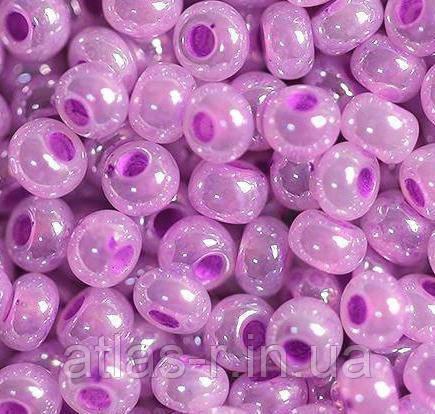 Бисер Preciosa Чехия №37128 1г, светло-фиолетовый жемчужный