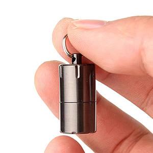 DOLPHIN Зажигалка-брелок компактная мини бензиновая зажигалка Черная