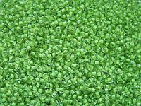Бисер Preciosa Чехия №38357 1г, светло-зеленый прозрачный с внутренней окраской