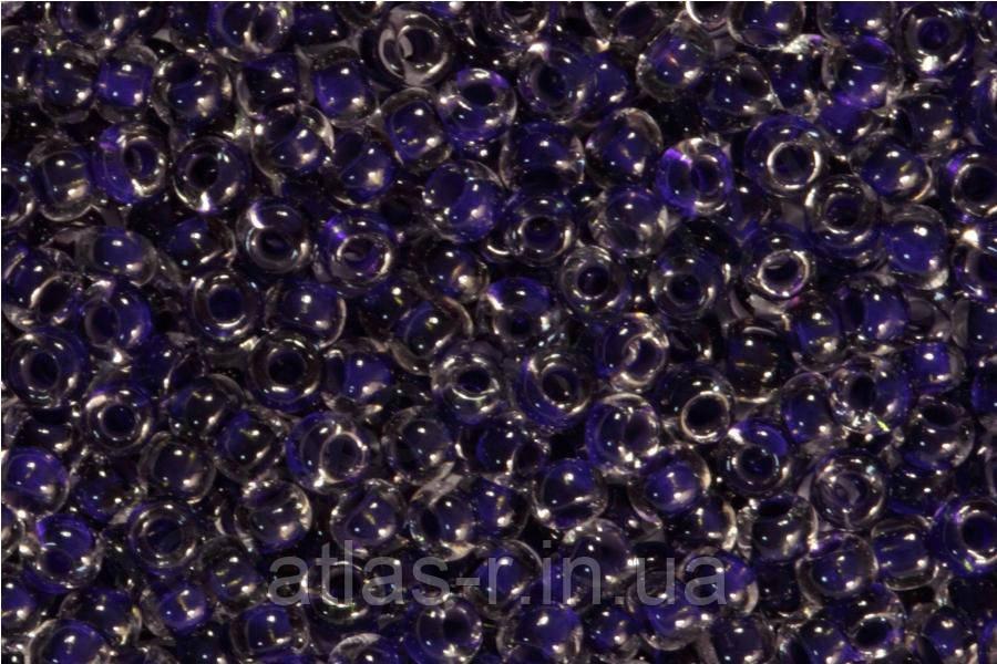 Бісер Preciosa Чехія №38428 1г, фіолетовий прозорий з внутрішнім забарвленням