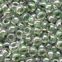 Бисер Preciosa Чехия №38659 1г, грязно-зеленый прозрачный с внутренней окраской