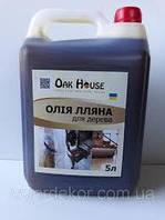 Льняное масло для дерева Oak House (бесцветный) 5 л
