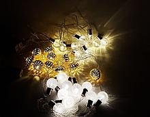 Гирлянда - игрушка звёздочки, ёлочки, снежинки, лампочки