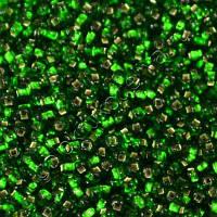Бисер Preciosa Чехия №57120 1г, зеленый, блестящий