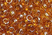Бисер Preciosa Чехия №86060 1г, оранжевый, прозрачный, глянцевый
