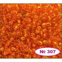 Бисер Preciosa Чехия №97000 1г, оранжевый, блестящий