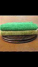 Полотенце зелёное (олива)  50*90 см (пл.500г/м2)