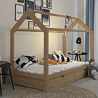 VitaliSpa детская кровать с выдвижными ящиками, 96x208 см, натуральное дерево, лак, сосна