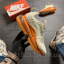 Женские кроссовки Nike Air Max 720 Beige Orange (бежево-оранжевые)