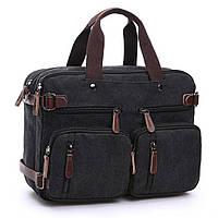 Многофункциональная  Сумка - портфель - рюкзак через плечо. Мужская сумка - трансформер