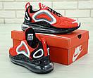 Чоловічі кросівки Nike Air Max 720 Red Black White, фото 3