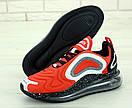 Чоловічі кросівки Nike Air Max 720 Red Black White, фото 5