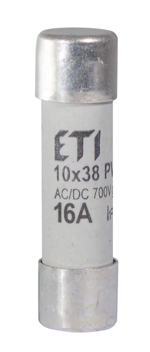 Предохранитель ETI CH 10x38 gR PV 16A 700V AC/DC 50/8kA 2625023 (для фотоэлектрических систем PV)