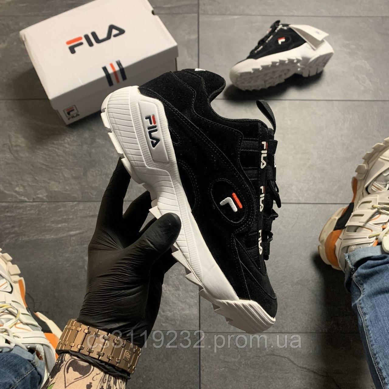 Жіночі кросівки Fila D-Formation Black White (чорні)