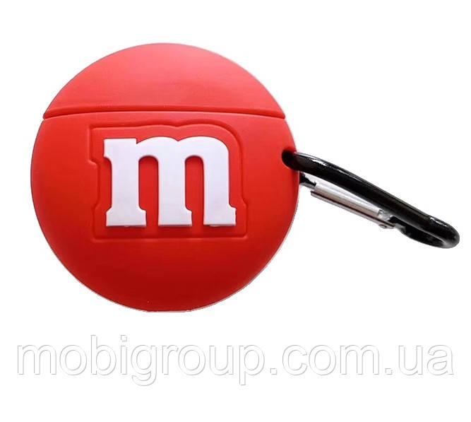 Чехол силиконовый для Apple AirPods Pro M&M`s, Красный