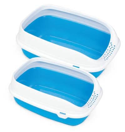 Туалет для кошек с рамкой BETA PLUS MINI BLUE, 43*31*16 см
