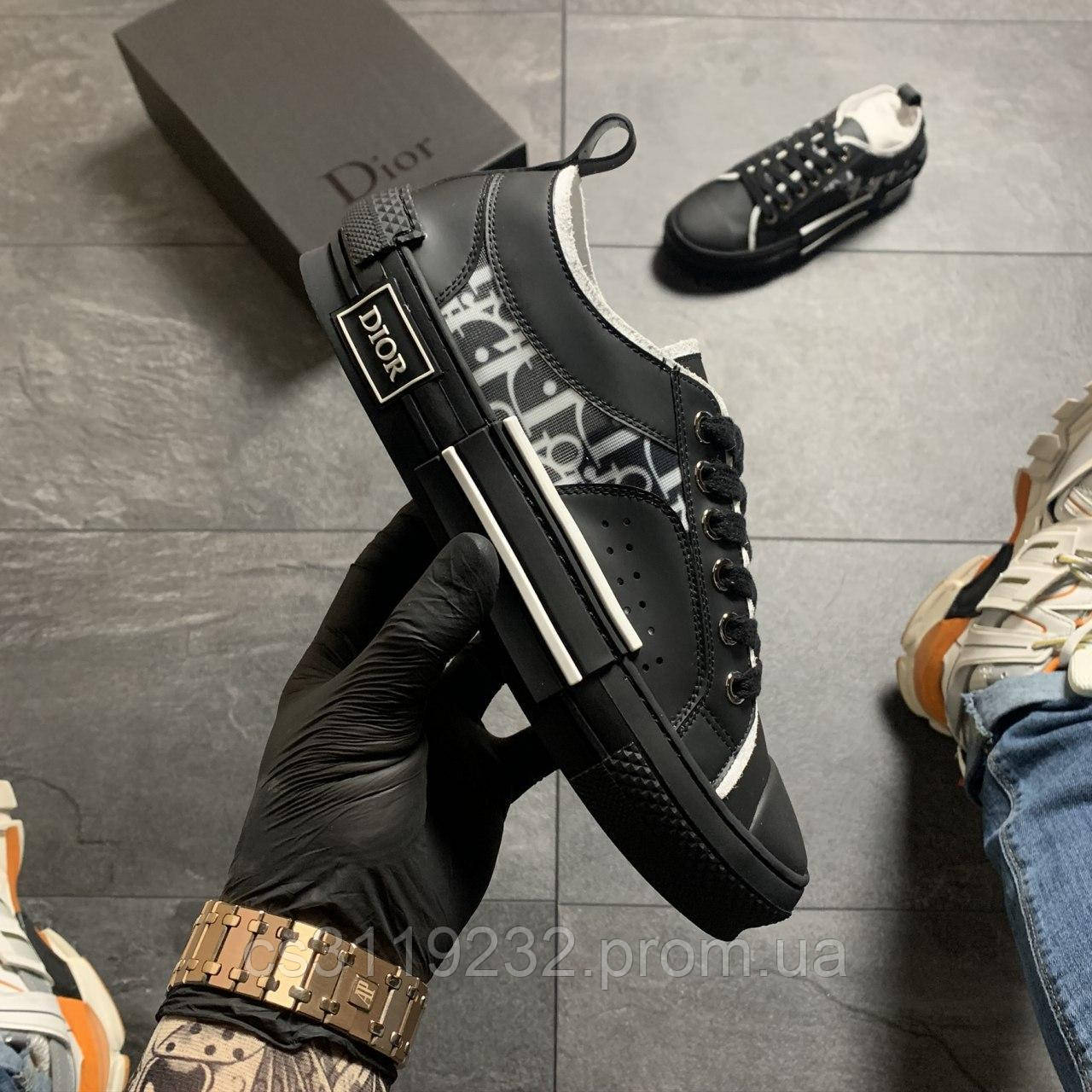 Женские кроссовки Dior  B23 Low-Top Sneakers Black (черный)